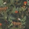 bedrukte velvet met luipaarden en vogels gordijnstof decoratiestof meubelstof 1.152520.1028.540