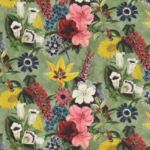 bedrukte velvet vintage velvet met bloemen gordijnstof decoratiestof meubelstof 1.152520.1032.655