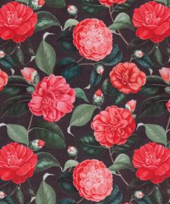 bedrukte velvet met rozen gordijnstof decoratiestof meubelstof velvet stof kopen velours stof kopen fluweel stof kopen 1.152520.1034.300