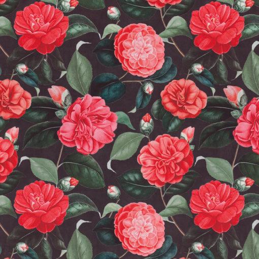 bedrukte velvet met rozen gordijnstof decoratiestof meubelstof 1.152520.1034.300