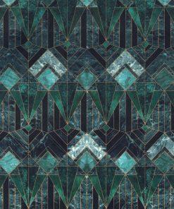 Bedrukte Velvet marble diamond decoratiestof gordijnstof meubelstof velvet stof kopen fluweel stof kopen velours stof kopen 1.152540.1034.545