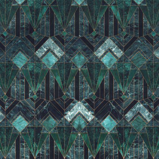 Bedrukte Velvet marble diamond decoratiestof gordijnstof meubelstof 1.152540.1034.545