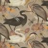 bedrukte velvet printstof met reigers 1.152540.1037.120 decoratiestof gordijnstof meubelstof velvet stof kopen velours stof kopen fluweel stof kopen 1.152540.1037.120