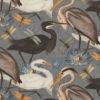 velvet printstof met vogels decoratiestof gordijnstof meubelstof 1.152540.1038.58