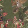 velvet printstof met apen decoratiestof gordijnstof meubelstof 1.152540.1039.535