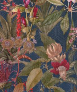 bedrukte velvet met bloemen en planten printstof decoratiestof gordijnstof meubelstof velvet stof kopen fluweel stof kopen velours stof kopen1.152540.1040.465