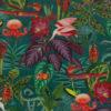bedrukte velvet jungle velvet printstof met fantasia jungle decoratiestof gordijnstof meubelstof 1.152540.1043.655