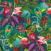 velvet printstof met allerlei dieren decoratiestof gordijnstof meubelstof 1.152540.1043.655