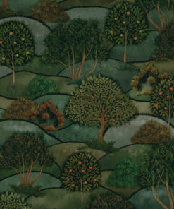 bedrukte velvet mt bomen printstof decoratiestof gordijnstof meubelstof 1.152540.1044.530