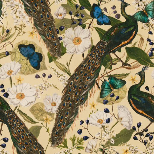 Velvet pauwenstof printstof decoratiestof gordijnstof meubelstof 1.152540.1046.540