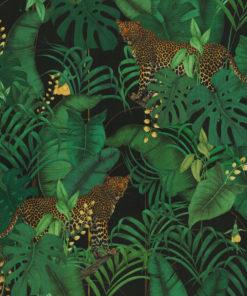 bedrukte jungle velvet met luipaarden printstof decoratiestof gordijnstof meubelstof 1.152540.1047.525