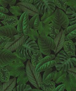 bedrukte velvet met bladeren printstof gordijnstof decoratiestof meubelstof 1.152540.1048.530