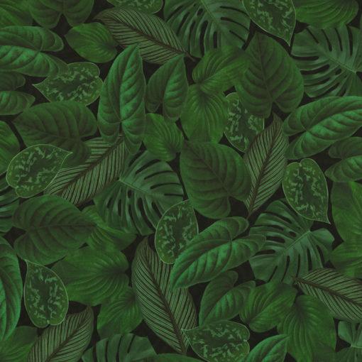 bedrukte velvet met bladeren printstof gordijnstof decoratiestof meubelstof velvet stof kopen velours stof kopen fluweel stof kopen 1.152540.1048.530