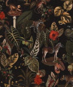 bedrukte velvet jungle dieren printstof gordijnstof decoratiestof meubelstof velvet stof kopen velours stof kopen fluweel stof kopen 1.152540.1049.540