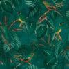 bedrukte velvet met parkieten printstof gordijnstof decoratiestof meubelstof 1.152540.1050.525