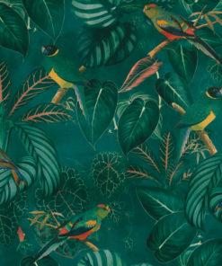 bedrukte velvet parkieten printstof gordijnstof decoratiestof meubelstof velvet stof kopen fluweel stof kopen velours stof kopen 1.152540.1050.525