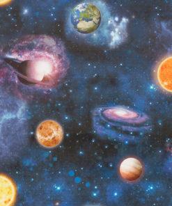 bedrukte velvet met planeten printstof gordijnstof decoratiestof meubelstof 1.152540.1053.475