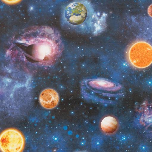 bedrukte velvet met planeten printstof gordijnstof decoratiestof meubelstof velvet stof kopen velours stof kopen fluweel stof kopen 1.152540.1053.475