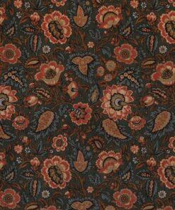 bedrukte velvet Blooming Art Craft barok velvet decoratiestof gordijnstof meubelstof 1.152540.1055.540