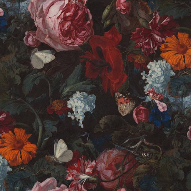 velvet printstof 054 velvet bloemen decoratiestof gordijnstof meubelstof 1.152540.1057.655