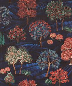 velvet printstof 055 velvet landschap decoratiestof gordijnstof meubelstof 1.152540.1058.655