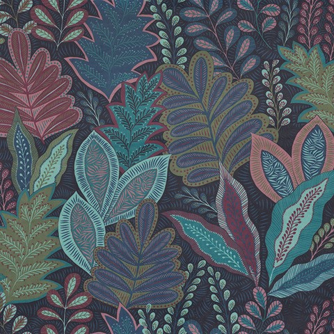 velvet printstof 052 velvet bladeren decoratiestof gordijnstof meubelstof 1.152540.1060.525