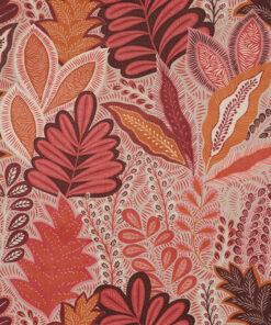 velvet printstof 051 velvet bladeren stof met bladeren decoratiestof gordijnstof meubelstof1.152540.1061.380