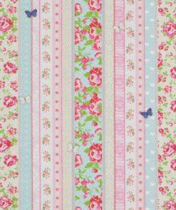 gordijnstof decoratiestof printstof ottoman stof met bloemen 1.171530.1015.375