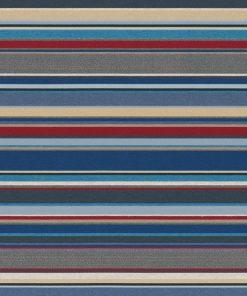 jacquardstof Lounge Strepen Blauw meubelstof gordijnstof decoratiestof stof met strepen 1.202530.1107.460