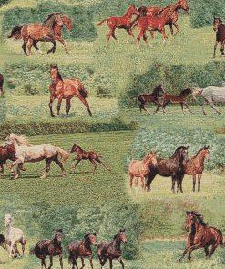 gobelin stof met paarden decoratiestof gordijnstof meubelstof1.251030.1568.525