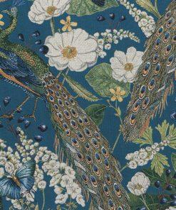 gobelin stof met pauwen decoratiestof gordijnstof meubelstof 1.251030.1572.485