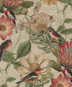 gobelin 027 gobelin stof met vogels en bloemen decoratiestof gordijnstof meubelstof 1.251030.1581.535
