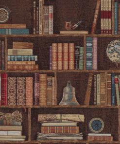 gobelin stof met boekenkast decoratiestof gordijnstof meubelstof 1.251030.1587.655