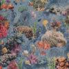 gobelin dieren 011 stof met koraal decoratiestof gordijnstof meubelstof 1.251030.1589.655