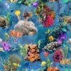 gobelin stof met vissen decoratiestof gordijnstof meubelstof 1.251030.1589.655