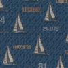 gobelin stof met zeilboten decoratiestof gordijnstof meubelstof 1.251030.1590.460