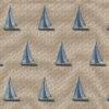 gobelin stof met zeilboten decoratiestof gordijnstof meubelstof 1.251030.1591.460
