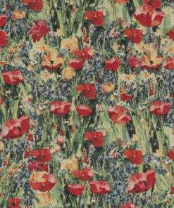 gobelin stof met bermbloemen decoratiestof gordijnstof meubelstof 1.251030.1596.655