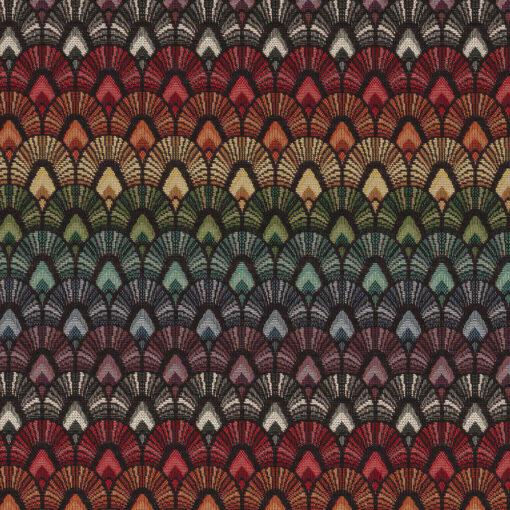 gobelin stof met pauwenveren decoratiestof gordijnstof meubelstof 1.251030.1605.655