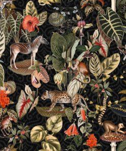 gobelin dieren 014 stof met jungledieren decoratiestof gordijnstof meubelstof 1.251030.1606.525