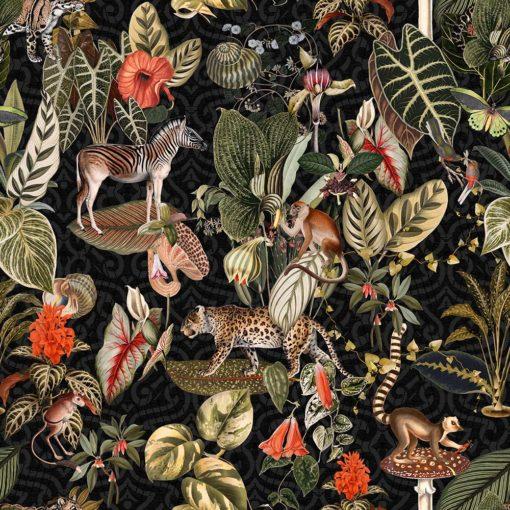 gobelin stof met wilde dieren decoratiestof gordijnstof meubelstof 1.251030.1606.525
