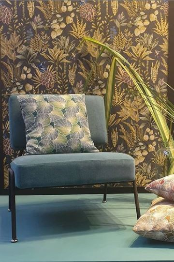 kussen van jacquardstof Lotus Raphia gordijnstof decoratiestof meubelstof