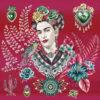 stofpanelen Frida Artista Fuchsia jacquardstof