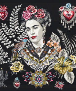 stofpanelen Frida Artista noir jacquardstof