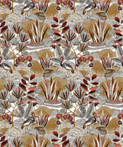 jacquardstof Birmani Piment meubelstof gordijnstof decoratiestof interieurstof stof met pauwen