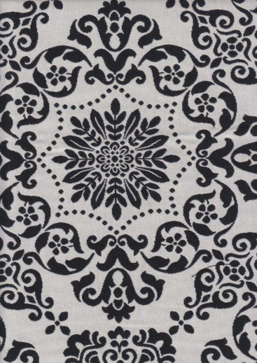 dubbeldoek barok zwartwit stof gordijnstof decoratiestof