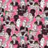 jacquardstof BlaBla pink stof met vrouwen decoratiestof gordijnstof meubelstof