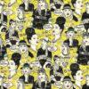 jacquardstof BlaBla yellow stof met vrouwen decoratiestof gordijnstof meubelstof