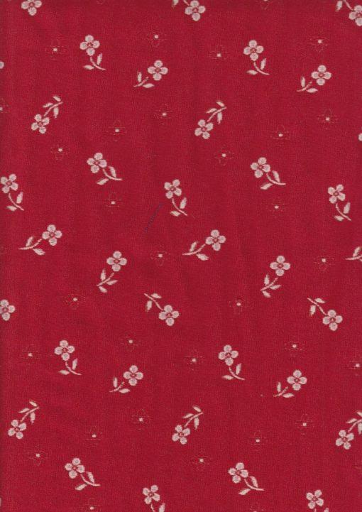 rode dubbeldoek bloemetjesstof gordijnstof decoratiestof