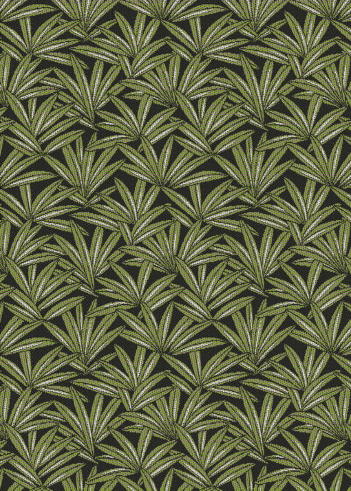jacquardstof canopee kaki meubelstof gordijnstof stof met cannabis